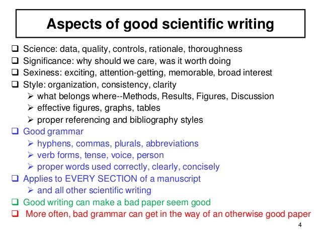 Scientific essay writing