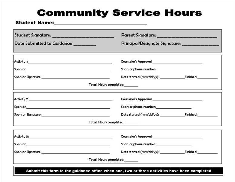 community service paper print out for school community service form college homework help and 27720 | ?img tkb=community service form